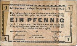 Alemania - Germany 1 Pfennig 1915, Konigsbruck Ref 1579 - [11] Local Banknote Issues