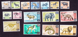 Kenya, Scott #20-35, Mint Hinged, Animals, Issued 1966 - Kenya (1963-...)