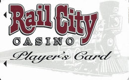 Rail City Casino - Sparks, NV - Slot Card - PPC Over Mag / 775 Phone# / BLANK - Casino Cards