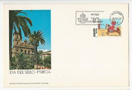 FDC Card (21x14cm) Apunte Literario Filatelico Ilustrado, Flash-282 * 1984 * Madrid * Dia Del Sello-Murcia - FDC