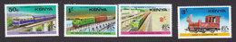 Kenya, Scott #64-67, Mint Hinged, Trains, Issued 1976 - Kenya (1963-...)
