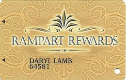 Rampart Casino - Las Vegas, NV - Slot Card / Arrows / ACC Over Mag Stripe - Casino Cards