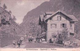 Grimselstrasse, Gasthaus Z. Mettlen, Attelage Et Promeneurs (7877) - BE Berne