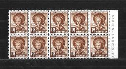 1940 PRO JUVENTUTE → Teilbogen Mit 10 Briefmarken  ►SBK-J94 **◄ - Pro Juventute