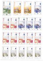 Planche De Billets Euros Format A4 Prédécoupés - Specimen