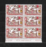 1941 PRO PATRIA → Teilbogen 6 Briefmarken  ►SBK-B13 **◄ - Pro Patria