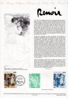 """"""" LA BALANCOIRE D'AUGUSTE RENOIR """" Sur Document Philatélique Officiel 1er Jour De 1991  N° YT 2692. DPO - Documents De La Poste"""