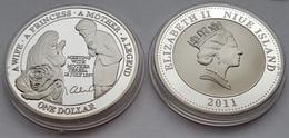 Silver Coin Princess Diana And Mother Teresa Rose Flower NIUE ISLAND - Niue