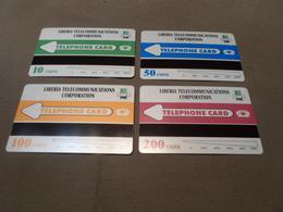 LIBERIA - FULL SET Of 4 MINT Urmet Phonecards - Liberia