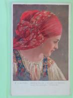 """Czechoslovakia 1926 Postcard """"""""Slovakia Young Girl"""""""" Stechovice To Zizkov - Castle - Czechoslovakia"""