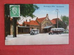 Germany-AK-Harburg-a-Elbe-Hauptbahnhof-1930-special-cancel  Ref 2910 - Deutschland