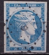 GREECE 1870 Large Hermes Head Special Print 20 L Skyblue Vl. 43 - Gebruikt