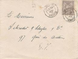 SAGE Sur  ENV  OBLI  BORDEAUX - Marcophilie (Lettres)