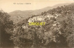 Corse, Costa, Une Vue Du Village, éd Papeghin 423 - Francia