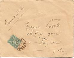 SAGE Sur  LAC OBLI  BRIVE - Marcophilie (Lettres)