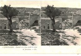 CPA N°21137 - LOT DE 10 CARTES DE JERUSALEM - LE MONT DES OLIVIERS + MOSQUEE EL-AKSA - Palästina