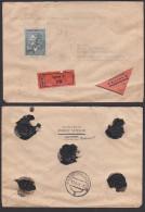 Iglau Wertbrief Mit Nachnahme Mit 10 Kcs Böhmen Und Mähren Nach Markersbach Sachsen - Besetzungen 1938-45