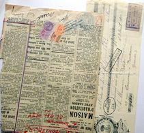 TIMBRE DE DIMENSION 5 FRANCS ET TIMBRE FISCAL 40 C  DEUX TIMBRES FISCAUX SUR JOURNAL ANNEE 1930 - Fiscaux