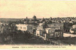 CPA N°21139 - LOT DE 12 CARTES DE JERUSALEM - MOSQUEE D' OMAR ESPLANADE DU TEMPLE EGLISE SAINTE ANNE ET SEMINAIRE - Palestine