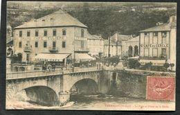 CPA - Ariège - TARASCON - Le Pont Et La Place De La Halle, Animé - France