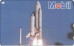 Japan  Phonecard Weltkugel Globe Satelit Raumfahrt Spaceshuttle - Astronomy