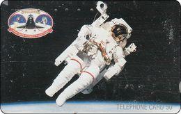 Japan  Phonecard  Satelit Raumfahrt Spaceshuttle Astronaut Mond - Astronomy