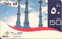 Qatar Q-Tel Hala Phone Card, Perfume Spray Monument With Asian Games Logo, (50 Rls.) - Qatar
