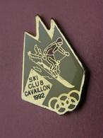 PIN'S  SKI CLUB CAVAILLON 1992   -  Jeux-Olympiques    (17) - Badges