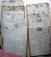 69 BEAUJOLAIS BOULANGERIE 17° 18° 19° GROS DOSSIER  E . BUISSON BOULANGER ST GEORGES BOIGNIN CACHETS GENERALITES - Manuscripts