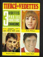 Sacha Distel Hugues Aufray Annie Philippe - Brochure Tiercé Des Vedettes N° 6  - 16 Pages - Objets Dérivés