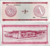 Cuba 1985 ND - 1 Peso - Pick FX1 UNC Seria A - Cuba
