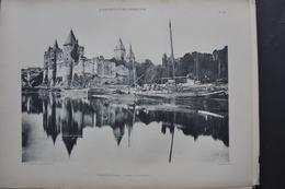 ARCHITECTURE FRANCAISE / CHÂTEAU DE JOSSELIN / LOT DE 2 PLANCHES - Prints & Engravings