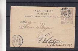 Belgique - Carte Postale De 1896 - Oblit Bruxelles Nord - Exp Vers Cologne - Cachet De Cöln - Vues De Bruxelles - 1894-1896 Exhibitions