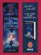 Marque Page.   Film-livre Le Crime De L'Orient Express.  Le Livre De Poche. - Bladwijzers