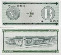Cuba 1985 ND - 1 Peso - Pick FX6 UNC Seria B - Cuba