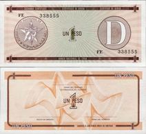 Cuba 1985 ND - 1 Peso - Pick FX27 UNC Seria D - Cuba