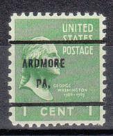 USA Precancel Vorausentwertung Preo, Bureau Pennsylvania, Ardmore 804-61 - Vereinigte Staaten