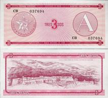 Cuba 1985 ND - 3 Pesos - Pick FX2 UNC Seria A - Cuba