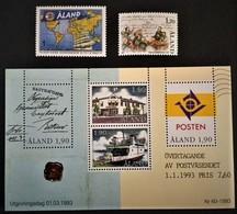 1987-1993 Municipal Meeting Fa.25**),Cape Horn Congress Fa.55**)Own Postal Administration Fa.Block 2/Fa.66-69**) - Aland