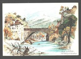Vaison-la-Romaine - Pont Romain Et Le Ventoux - Aquarelle Originale De Robert Lepine - Vaison La Romaine