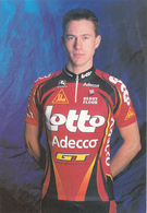 CYCLISME  GLENN D'HOLLANDER  (LOTTO ADECCO) - Cyclisme