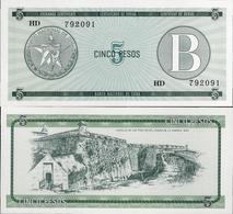 Cuba 1985 ND - 5 Pesos - Pick FX7 UNC Seria B - Cuba