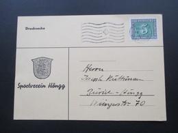Schweiz 18.5.1945 Postkarte Einladung Zur Teamsitzung Im Restaurant Rebstock. Sportverein Höngg - Briefe U. Dokumente