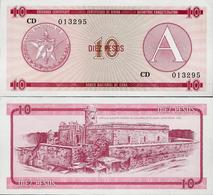 Cuba 1985 ND - 10 Pesos - Pick FX4 UNC Seria A - Cuba