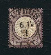 DEUTSCHES REICH 1872 - Aquila A Rilievo In Un Cerchio / Grande Scudo Sull'aquila - ¼ G, Violetto - Michel DR 16 - Germania