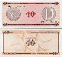 Cuba 1985 ND - 10 Pesos - Pick FX30 UNC Seria D - Cuba