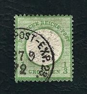 DEUTSCHES REICH 1872 - Aquila A Rilievo In Un Cerchio / Grande Scudo Sull'aquila - ⅓ G, Verde Giallo - Michel DR 17 - Germania