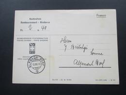 Schweiz 1940 Nachnahmekarte Der Schweizerischen Postverwaltung PTT Franco. Alpach Dorf - Briefe U. Dokumente