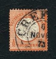 DEUTSCHES REICH 1872 - Aquila A Rilievo In Un Cerchio / Grande Scudo Sull'aquila - ½ G, Arancio - Michel DR 18 - Germania