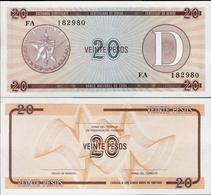 Cuba 1985 ND - 20 Pesos - Pick FX31 UNC Seria D - Cuba
